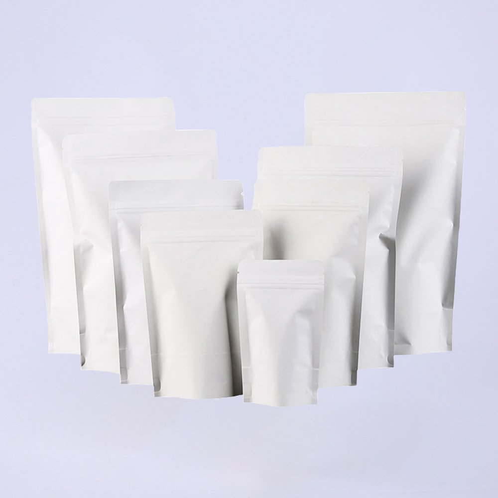Foil Plating Kraft White Stand Up Pouches