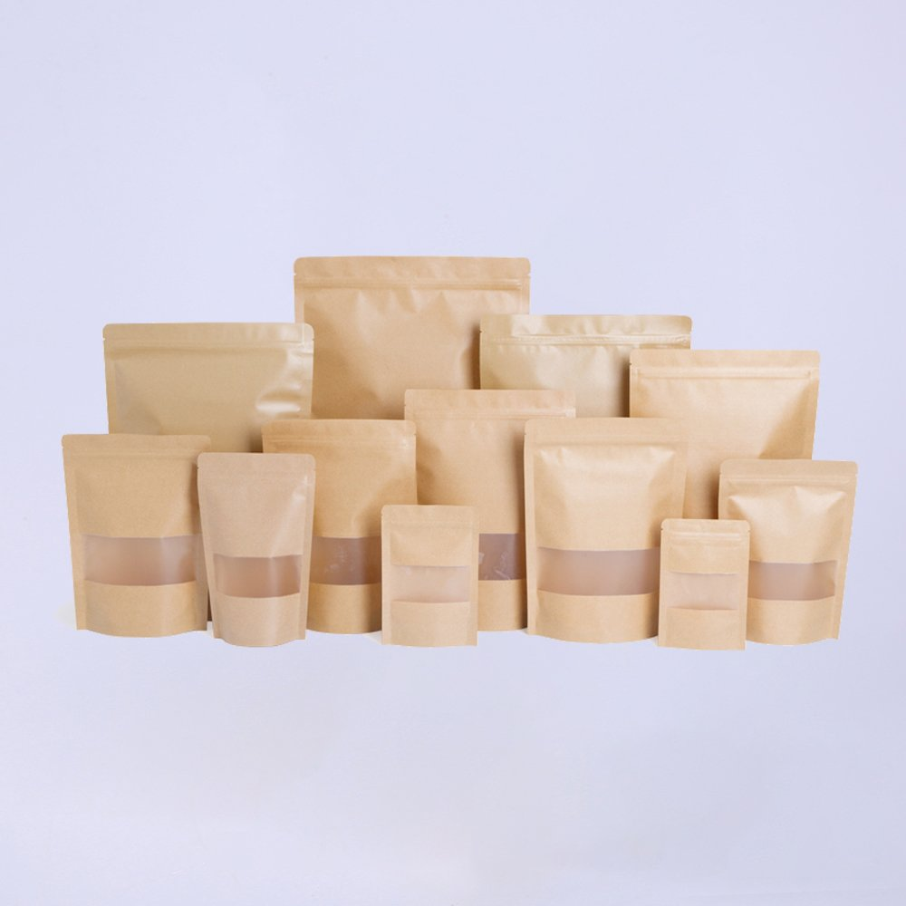 Kraft Stand Up Pouches With Window Wholesale